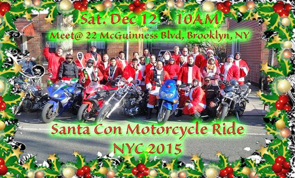 Santacon Motorcycle Ride 2015, NYC